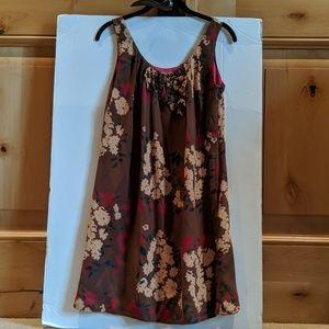 New Walter Baker Brown & Cream Sleeveless Dress